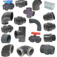 PVC Klebefittings 16, 20, 25, 32, 40, 50 mm, T-Stück, Bogen, Rohr, Winkel, Muffe