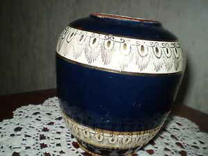 Vintage  Blue Vase Ceramics
