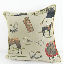 Tapestry Cushion Filled Equestrian Horse  Signare -  40 x 40 cm