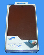 GENUINE SAMSUNG LEATHER FLIP DIARY CASE COVER FOR GALAXY NOTE- EFC-1E1CDEC-BROWN