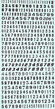 NUMERO START PAGARE NERO 4,5 X 5,0 MM 1:43 DECALCOMANIA rimovibile