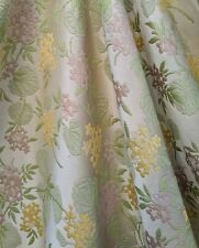 Vintage Luxurious Brocade Fabric  Home Decor Upholstery Drapery Floral Per Yard