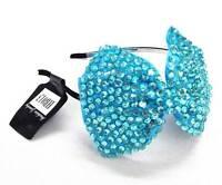 Girl Ladies Fashion Shining Brand New Diamante Crystal Hair Bow Band Large Size