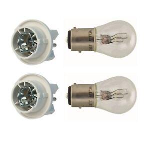🔥2 Front Turn Signal Bulb Socket & 2 Bulbs Kit for Mercedes W124 R129 W140🔥