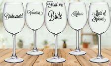 DIY Personalised Wedding Sticker for Wine/Champagne Glass (each)