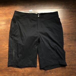 Louis Garneau MTB Shorts Size XL Black Baggy Cycling