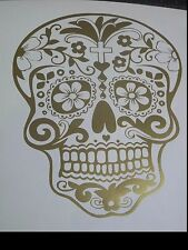 Day of the Dead Sugar Skull Sticker Decal