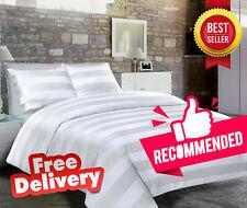 Jacquard Stripe Satin Duvet Cover Set 200 TC Quilt Bedding Case With Pillowcases