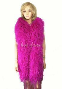"Hot pink 20 ply Lightweight Luxury Ostrich Feather Boa (scarf)71""long (180 cm)"