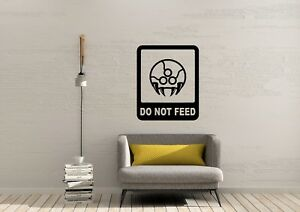 Metroid Prime Do not feed Gaming Inspired Design Home Wall Decal Vinyl Sticker