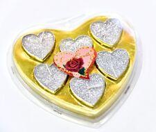 6 pcs Love Heart Tea Lights for Weddings, Birthdays, Valentines, Christmas C07