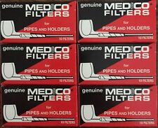 "6 Genuine Medico Tobacco Pipe & Cigar Holder Filters Boxes NEW 2 1/4"" 60ct"