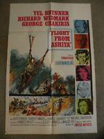 Flight From Ashiya Yul Brynner Richard Widmark #64/11 27X41 original movieposter