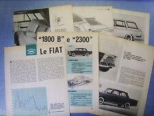 QUATTROR961-PROVA SU STRADA/ROAD TEST-1961-FIAT 1800B e 2300 -10 fogli