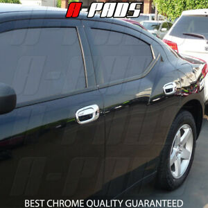 WITHOUT Passenger Keyhole /& WITHOUT Smart Keyholes A-PADS 4 Chrome Door Handle Covers for Dodge CHARGER 2005-2010
