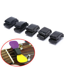 5pcs Black Rubber Guitar Pick Holder Fix on Headstock for Guitar Bass UkuleleLAG