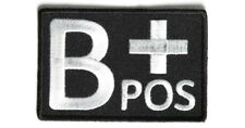 B POSITIVE Blood ID Patch - By Ivamis Trading - 3x2 inch P4325 Free Shipping