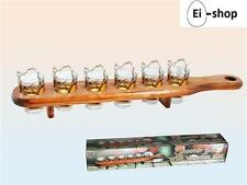 6 PINNCHEN MIT HOLZLATTE SCHNAPSGLÄSER STAMPER SHOOTER-GLAS SHOT PINCHEN SET NEU