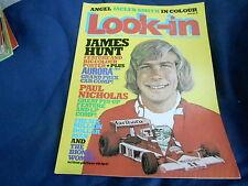 #29 JULY 16 1977 LOOK IN tv movie magazine JAMES HUNT - AURORA GRAND PRIX