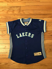 Los Angeles Lakers NBA Majestic Hardwood Classics Women's Warm Up Jacket Size XS