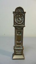UNUSUAL VINTAGE ENGLISH BRASS MINIATURE DOLL HOUSE GRANDFATHER CLOCK