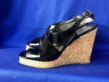 SALE @ JESSICA SIMPSON Wedges High Heels Black Patent Leather Womens Shoes Sz 9