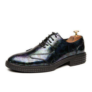 The New Men's Colorful Casual Business Leather Shoes Are Suitable Leisure Party