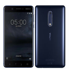 "BNIB 5.2"" Nokia 5 Tempered Blue 16GB Single-SIM Factory Unlocked 4G/LTE Simfree"