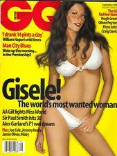 Gisele Bundchen GB British Gq Revista 9/00 Hugh Grant Elton John