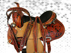 USED 15 16 TOOLED LEATHER RODEO PLEASURE TRAIL BARREL RACING SHOW WESTERN SADDLE
