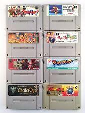 Ganbare Goemon 2 Tactice Oger DRAGON QUEST 6 Lot of 8 Nintendo SNES SFC  705-14