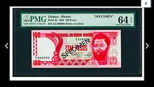 SPECIMEN PMG 64 EPQ Guinea-Bissau Banco Nacional De Guine-Bissau 100 Pesos