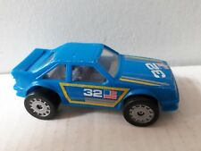 Vintage Remco 1987 Ford Mustang Blue Plastic Metal Base No 32 USA Race Car