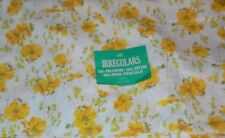 Vintage Spring Mills Double Bed Flat Yellow Floral Sheet Muslins NEW