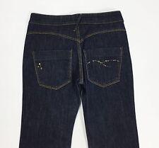 New penny jeans W26 tg 40 usato dritti usati strass blu donna slim pants T1758