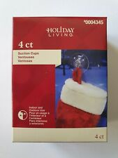NEW Holiday Living 4-Pack 2in Plastic Suction Cup Hanger with Hook 0004345