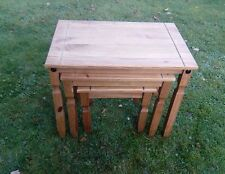 Wooden mexican Corona Nest of 3 Tables stack able 3 sizes