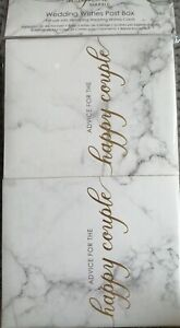 WEDDING WISHES POST BOX - SEALED - NEW - SCRIPTED MARBLE