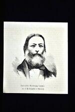 Giovanni Battista Cuneo, morto il 18 dicembre 1875 Incisione del 1876