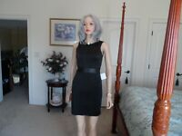 New Zara Faux Leather Textured Dress Size XS