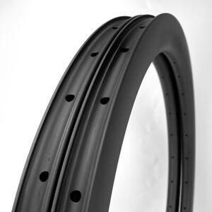 SALE Gravel Bike 50mm Depth 700C Carbon Fiber Rim Clincher 1PAIR