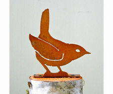 Rusty Metal Winter Wren Bird Silhouette Accent for Inside or Outside
