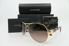 Chopard SCHA59S 08FC Aviator Gold & Havana Gradient Lens Sunglasses, New w/Box