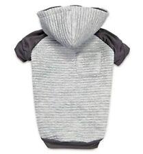 *New* ZACK & ZOEY Textured Stretch Dog Hoodie Shirt (GRAY & CHARCOAL) Size. XL