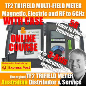 TF2 + CASE + ONLINE COURSE - Trifield TF2 EMF Gauss Meter! 3-Axis and 5G Freqs