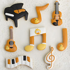 5Pcs Music Note Cookie Biscuit Cutter Pastry Cake Decorating Baking Mould Tools