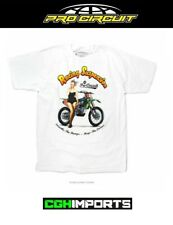 PRO CIRCUIT LADY RACING SUPENSION T-SHIRT WHITE CASUAL TEE APPAREL MOTOCROSS 90s