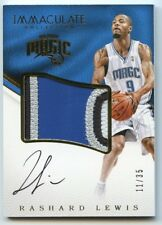 RASHARD LEWIS 2016-17 IMMACULATE COLLECTION 4-COLOR PATCH AUTOGRAPH 11/35