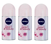(84€/L) 3x 50ml Nivea Pearl & Beauty Deo Roll On 48h Anti Transpirant Milde