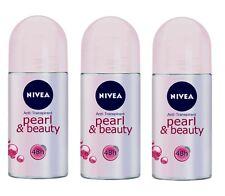 ( 84€/ L) 3x 50ml Nivea Pearl & Belleza desodorante roll-on 48h
